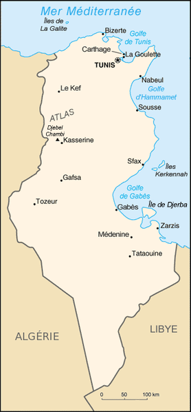 carte Tunisie