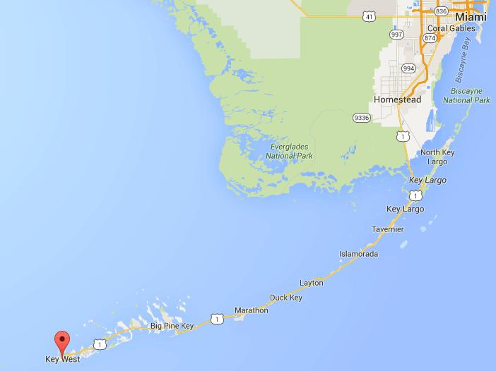 Carte Keys Floride