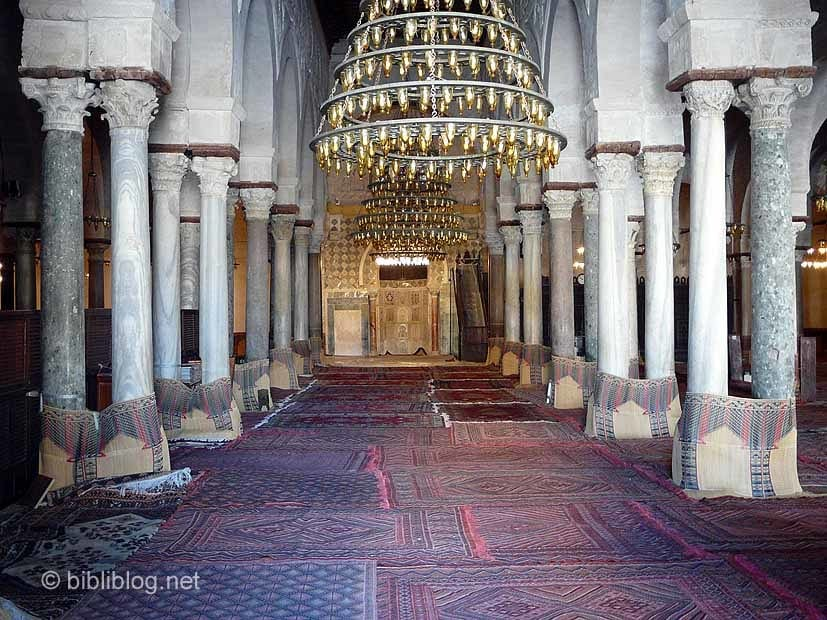 Kairouan-mosquee-interieur