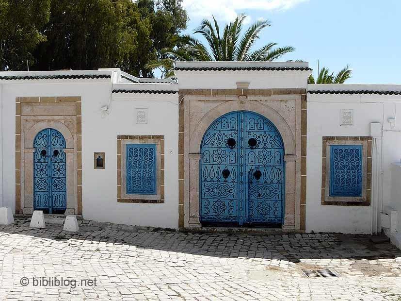La tunisie du nord sidi bou sa d for Decoration porte sidi bou said