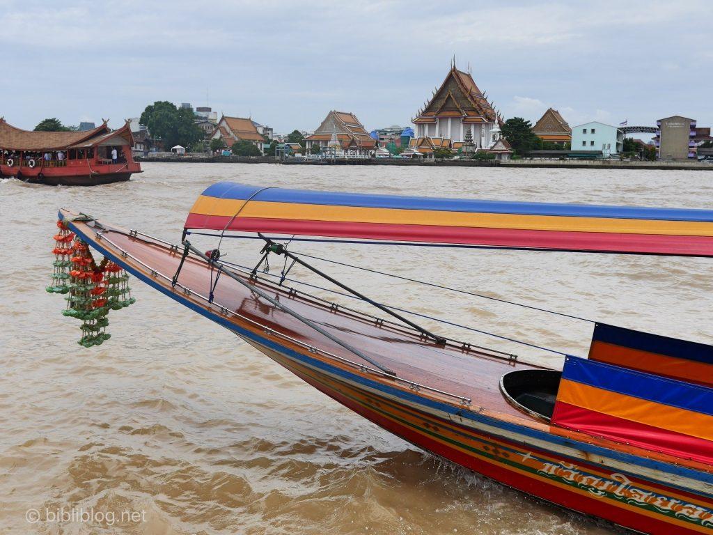 Bangkok canaux bateau