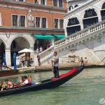 Venise Grand Canal et pont Rialto