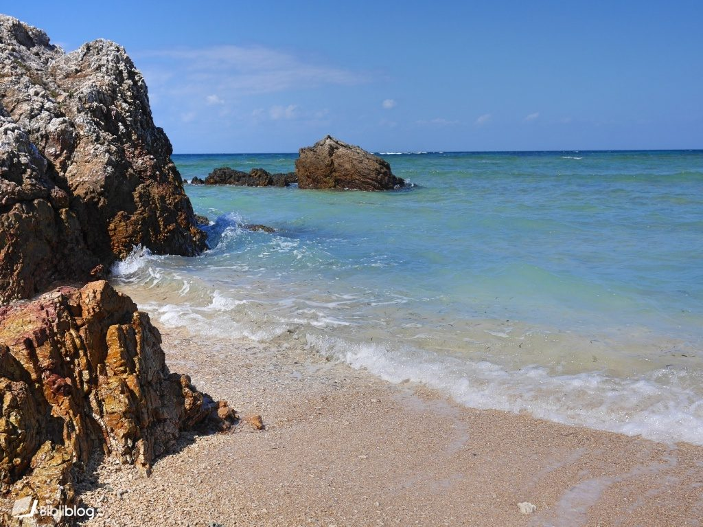 Plage de Fusaki sur l'île d'Ishigaki, archipel de Yaeyama, Okinawa, Japon