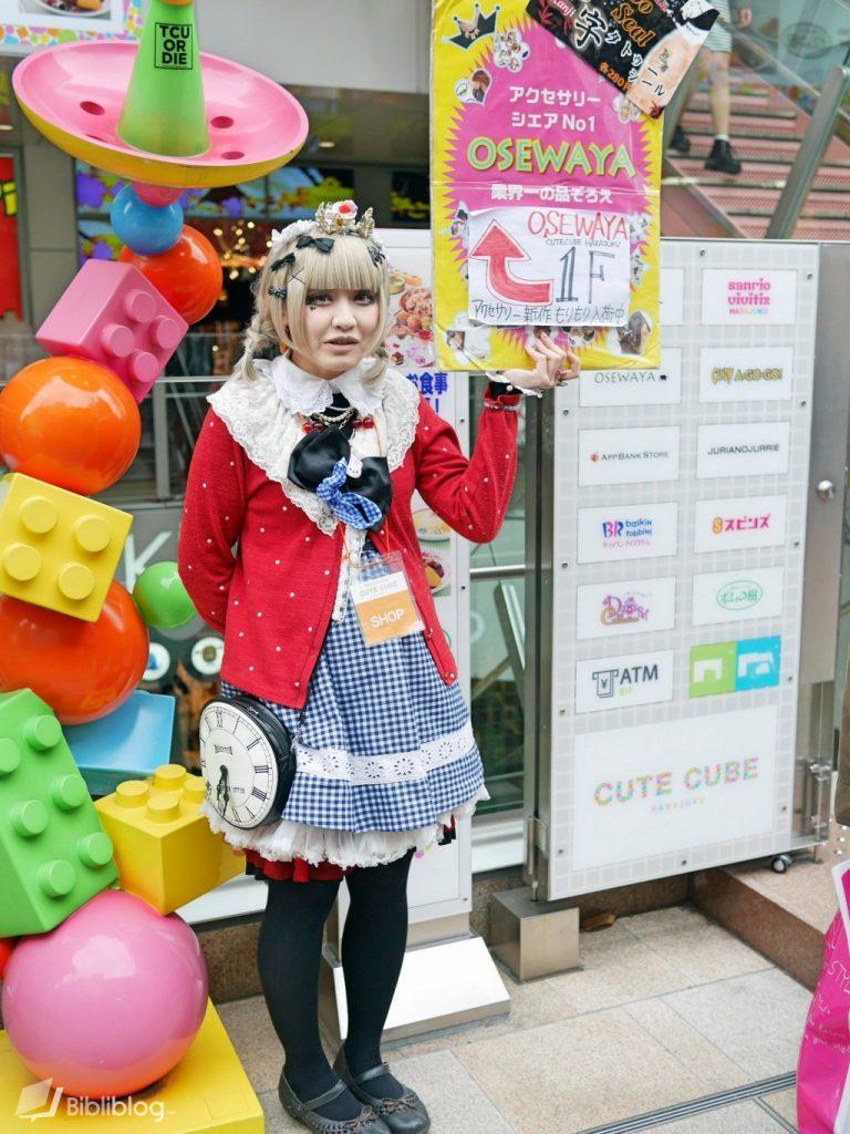 Porte-enseigne au Japon