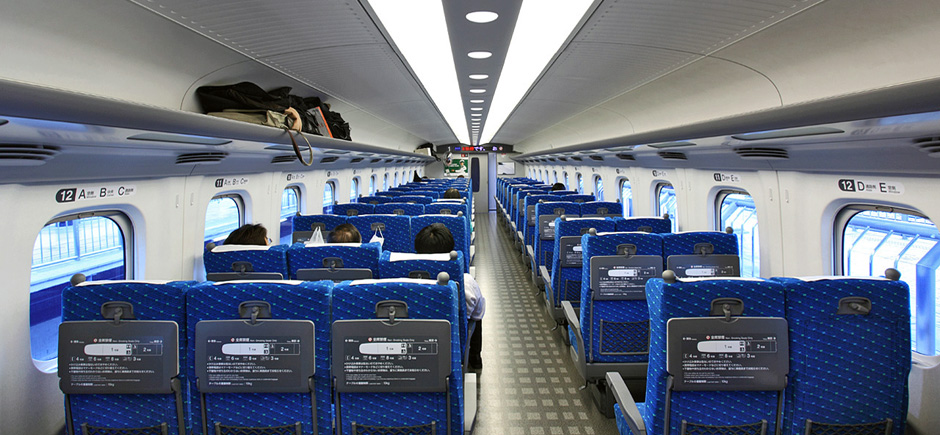 shinkansen intérieur