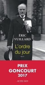 L'ordre du jour, d'Éric Vuillard