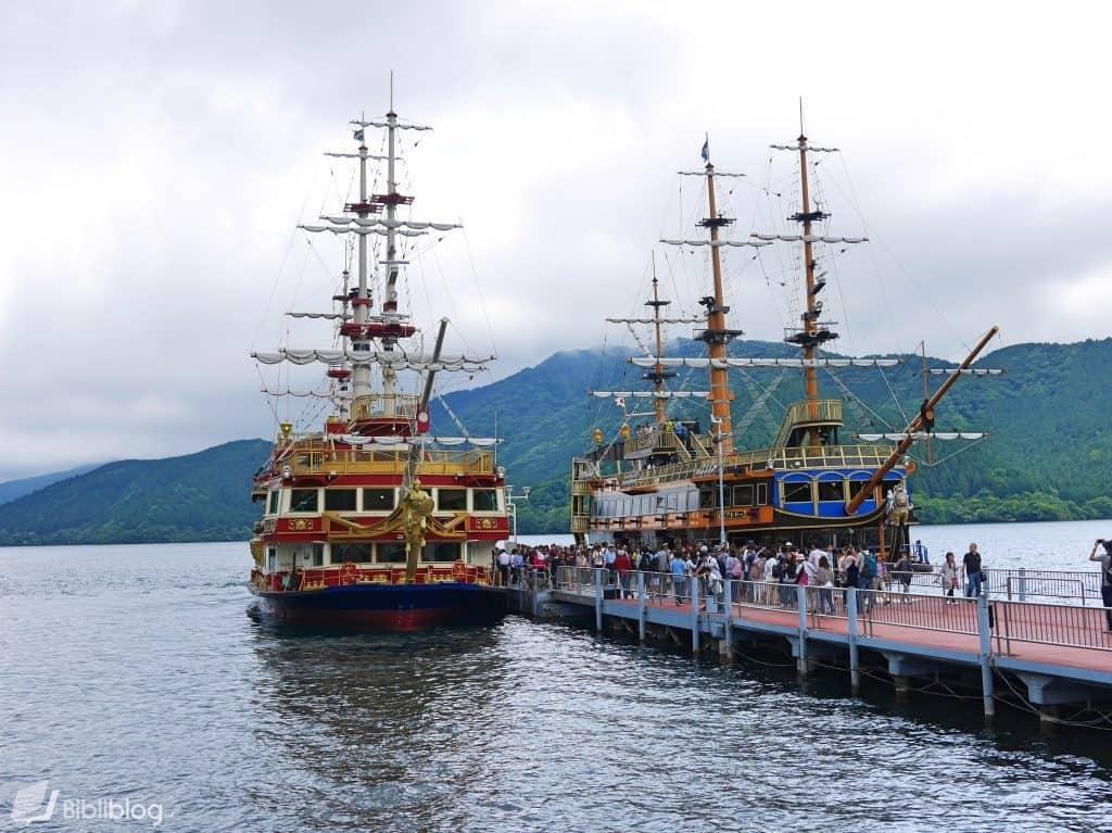 bateaux pirates Hakone, Japon