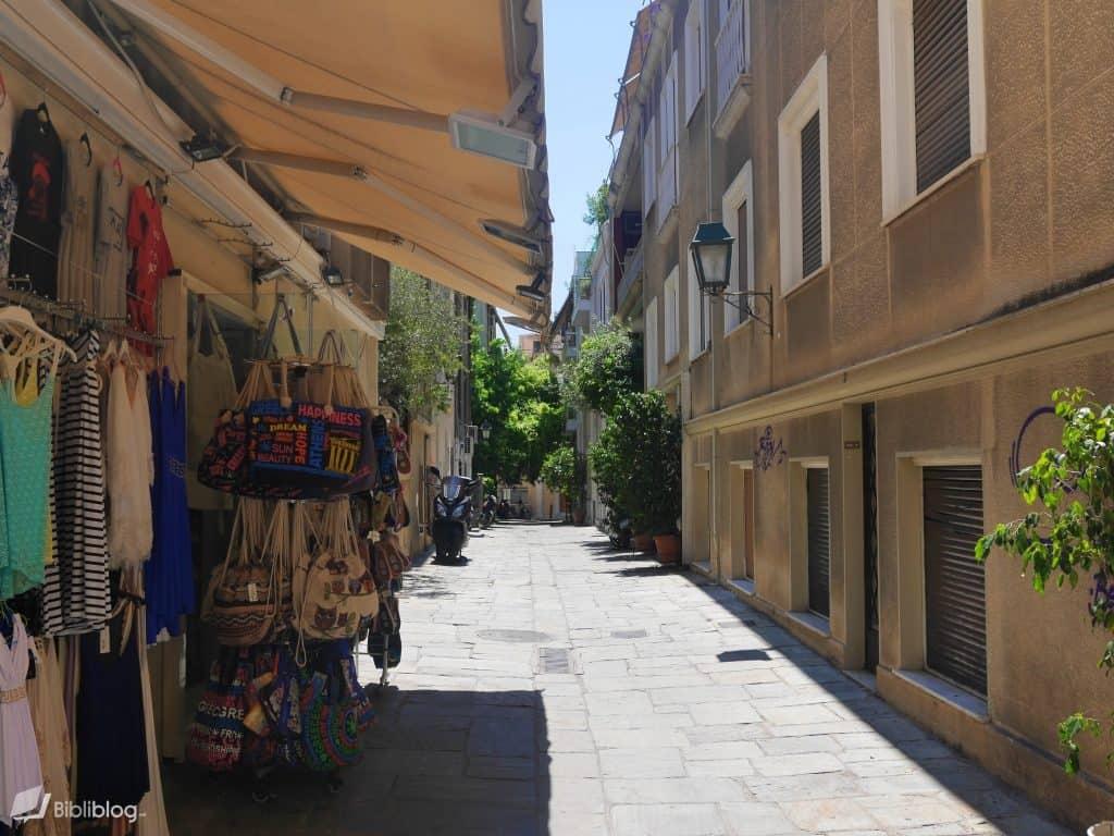 Quartier de la Plaka à Athènes