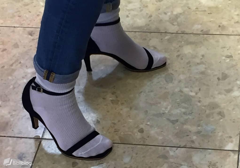 Escarpins chaussettes
