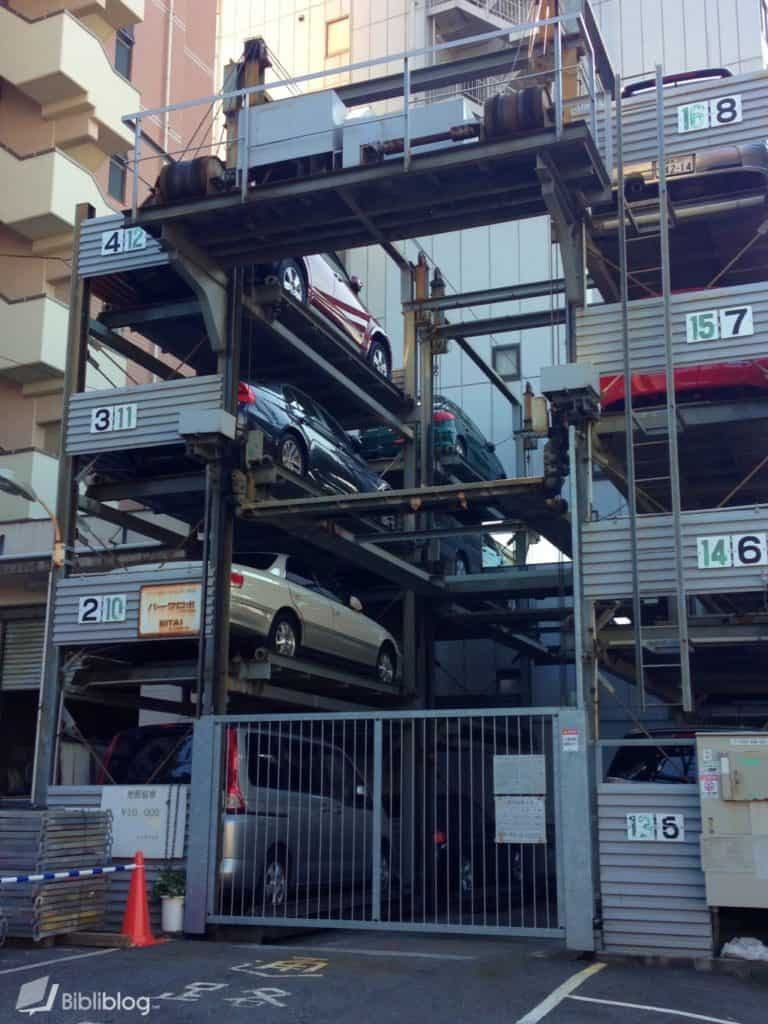 Parking voitures Tokyo